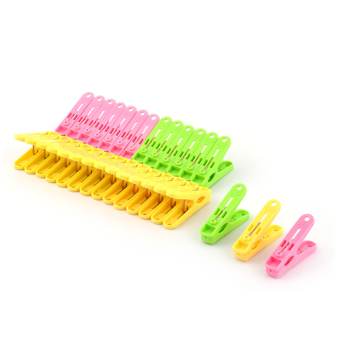 Plastic Laundry Towels Clothes Socks Underwears Hanging Peg Clip Clothespin 30Pcs