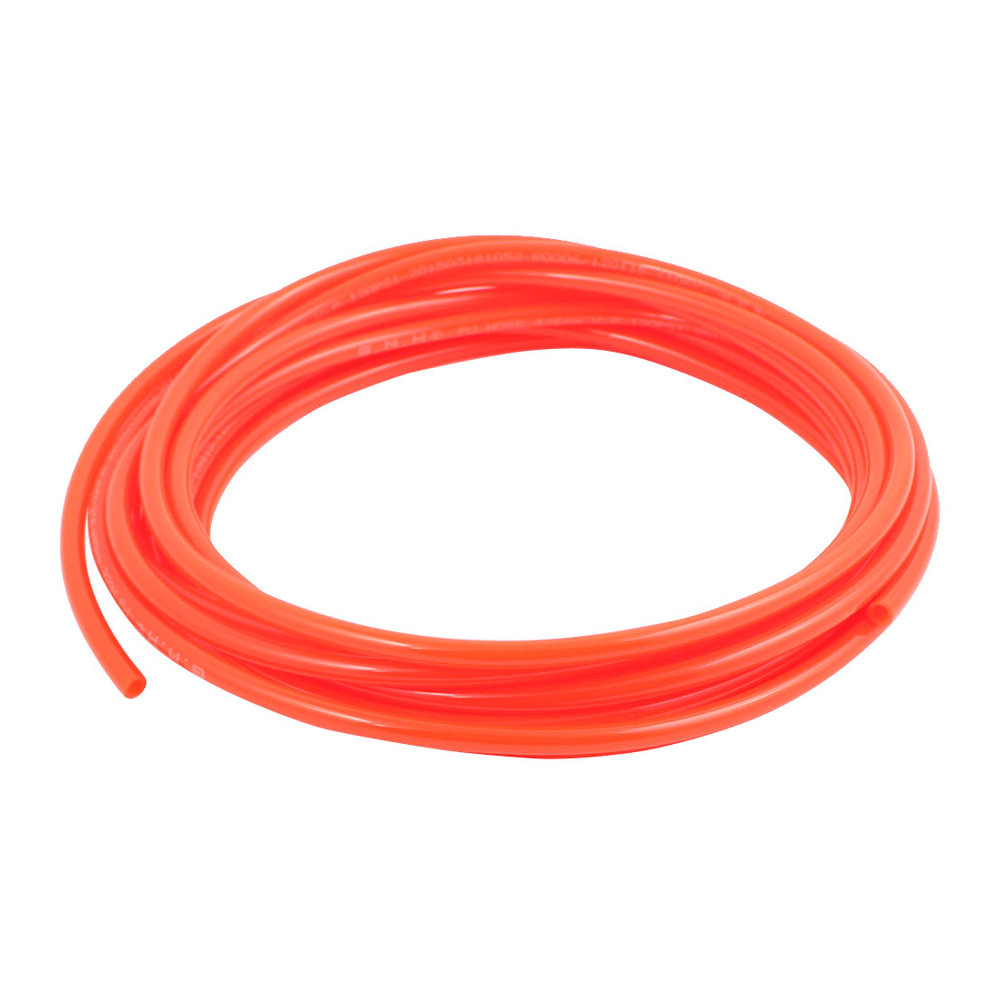 4mm x 6mm Pneumatic Air Compressor Tubing PU Hose Tube Pipe 6 meter Orange