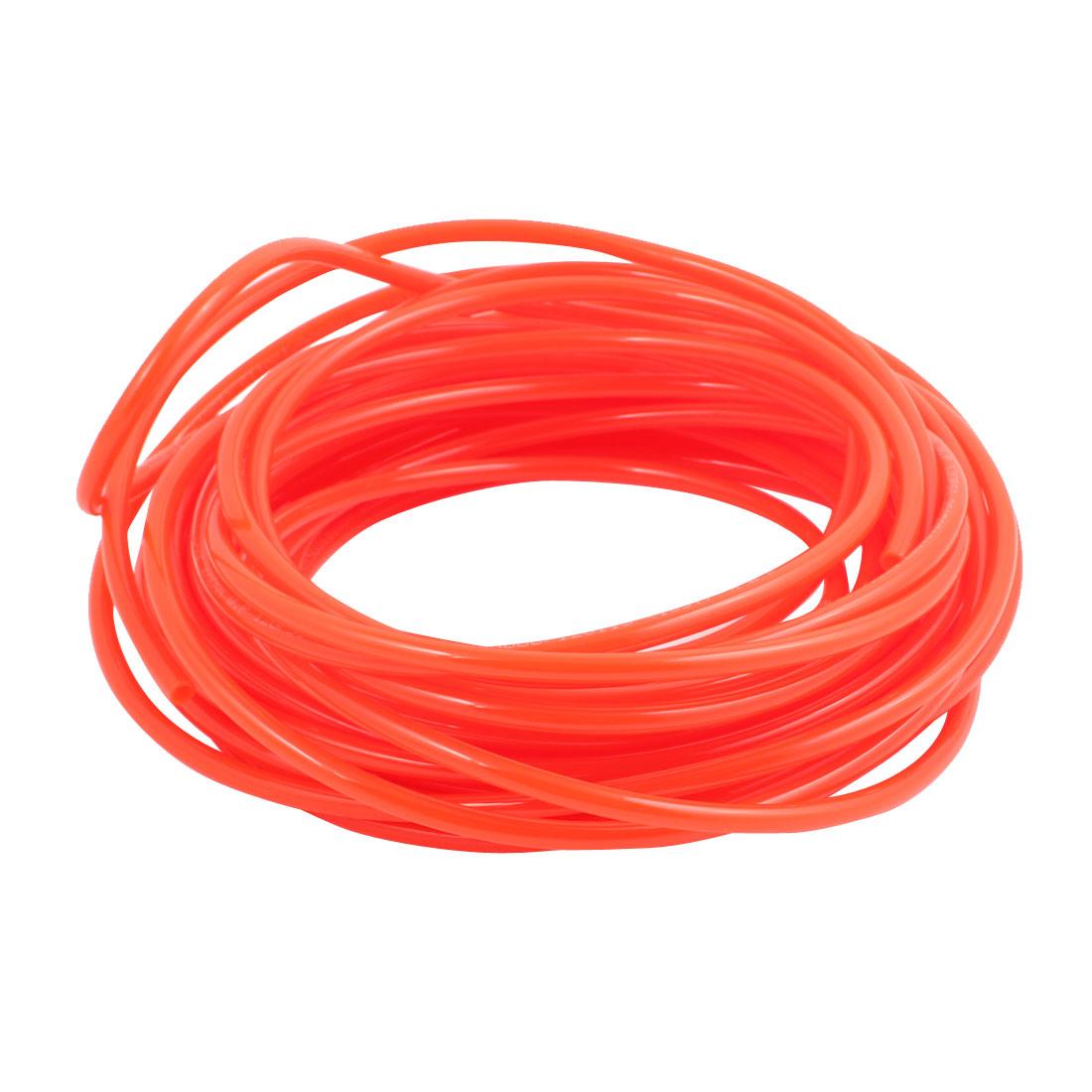4mm x 6mm Pneumatic Air Compressor Tubing PU Hose Tube Pipe 14 meter Orange