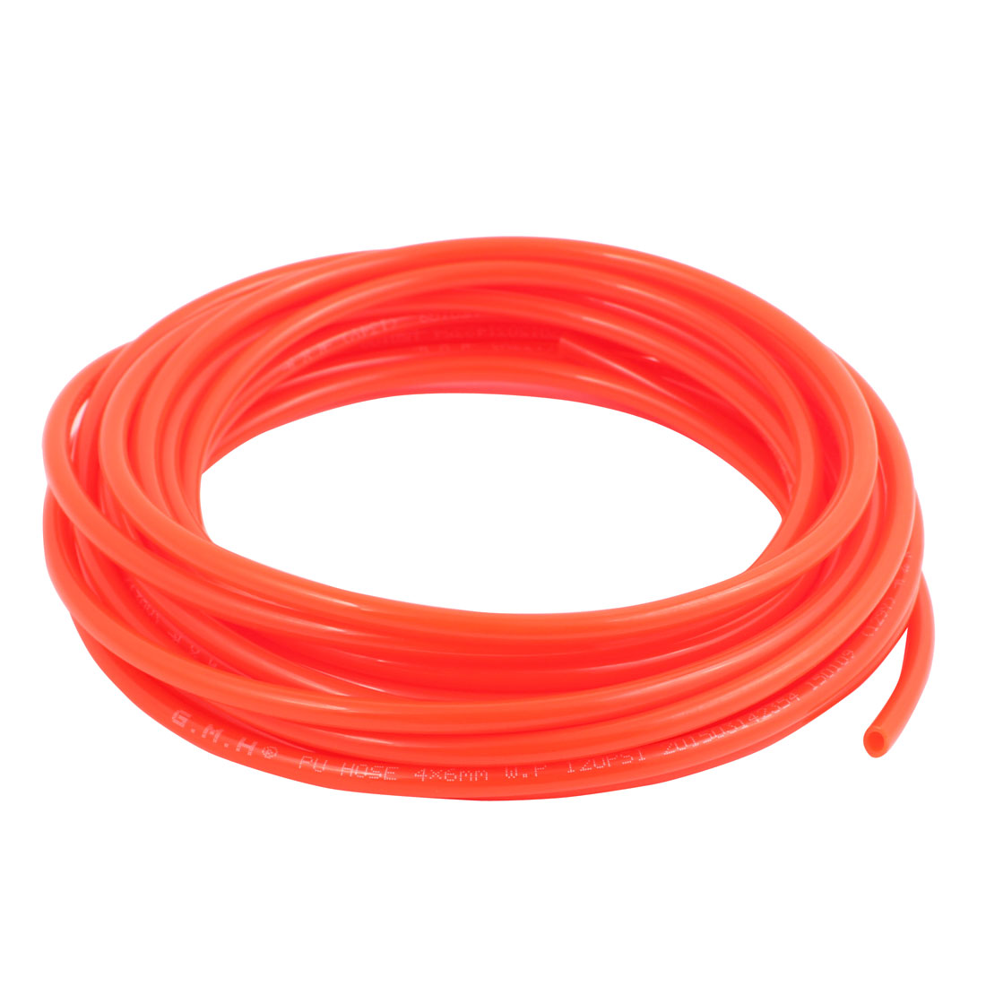 6mm x 4mm Pneumatic Air Compressor Tubing PU Hose Tube Pipe 7.7 meter Orange