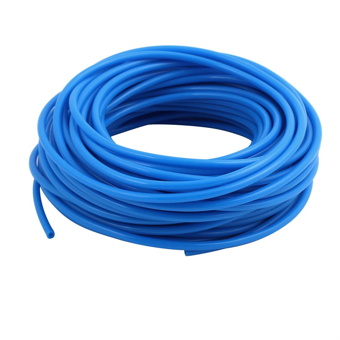 2.5mm x 4mm Flexible Pneumatic Polyurethane PU Hose Pipe Tube Blue 18m Length