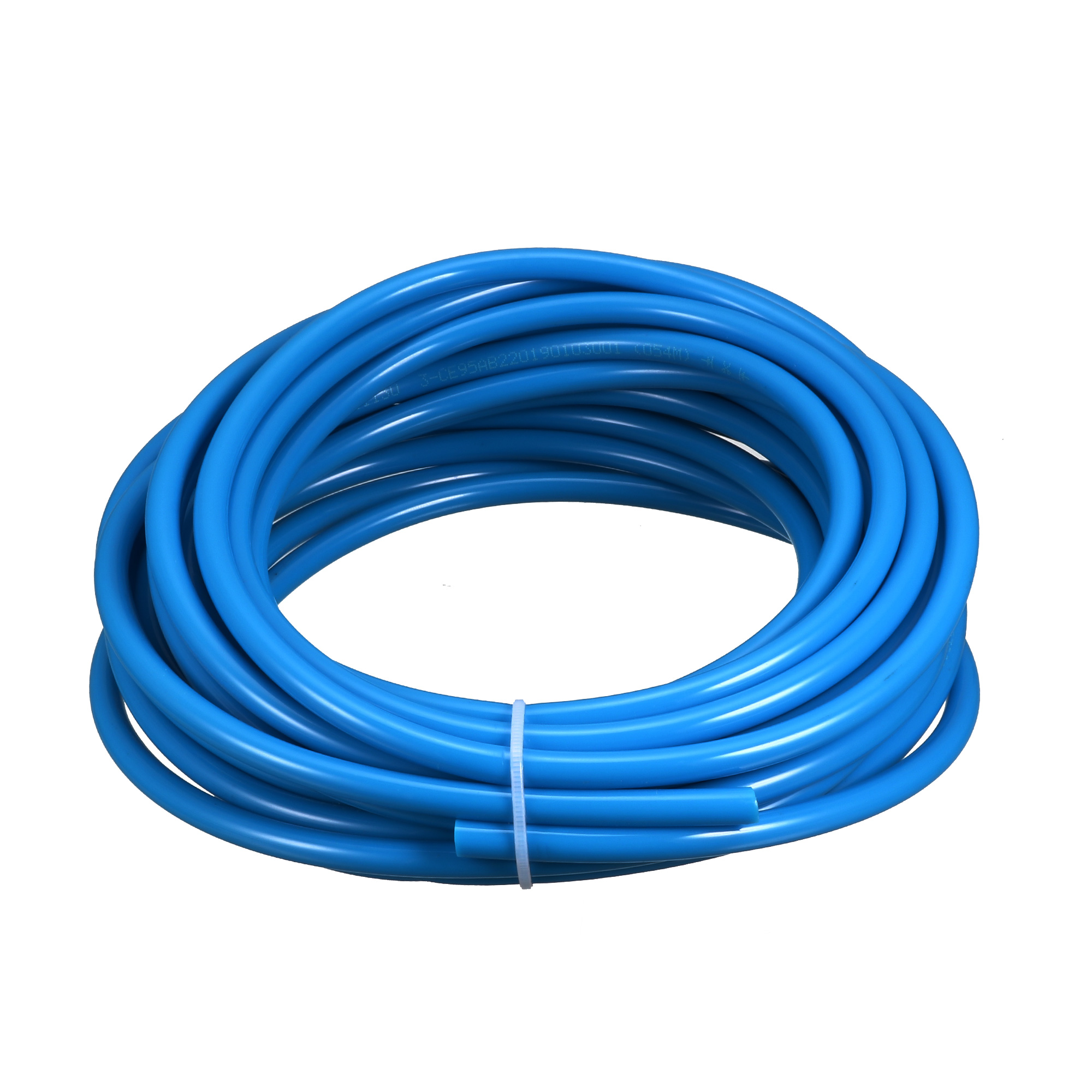 6mm x 4mm Pneumatic Air Compressor Tubing PU Hose Tube Pipe 6.8 meter Blue