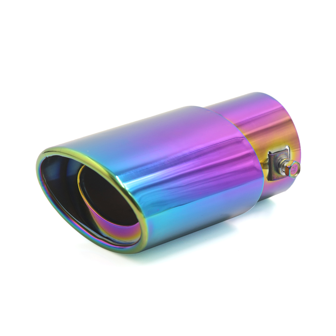 "60mm 2.4"" Inlet Colorful Stainless Steel Exhaust Tip Pipe Muffler for Auto Car"