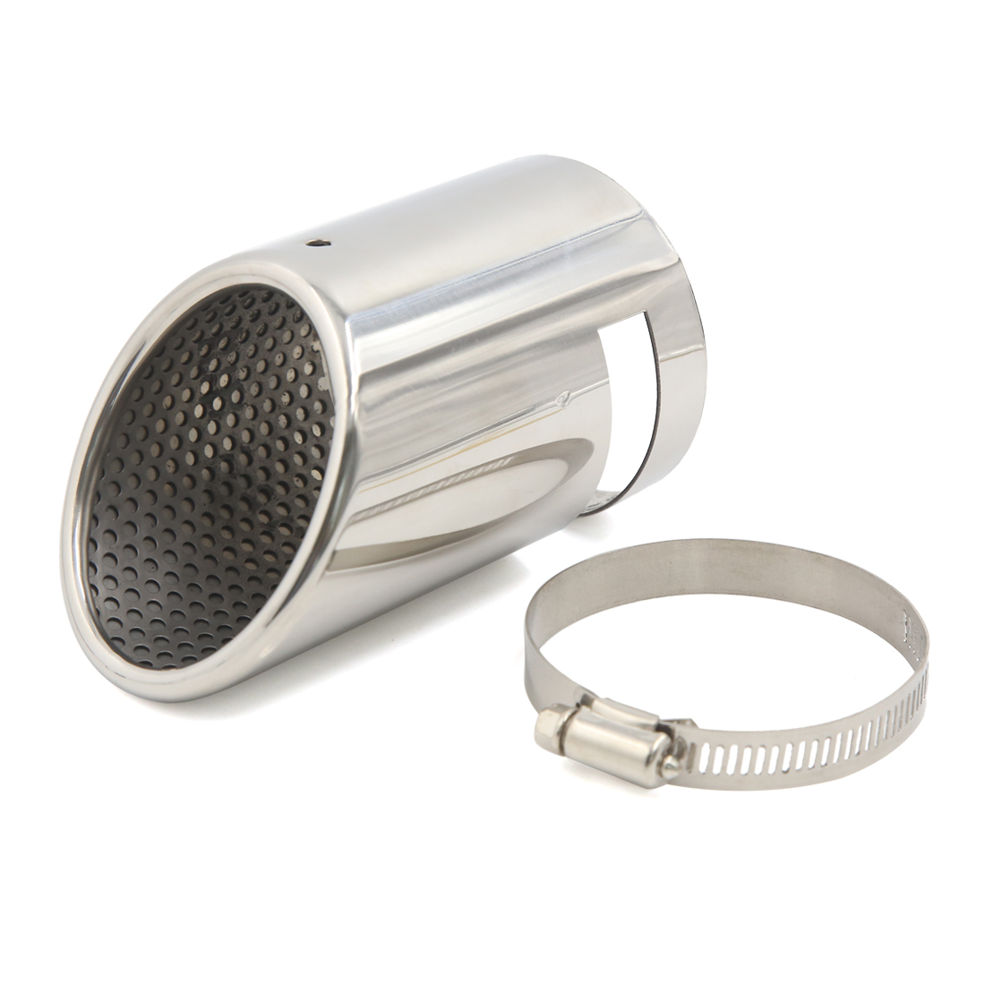 """73mm 2.9"""" Inlet Welding Bevel Outlet Tip Car Tail Exhaust Muffler Pipe"""