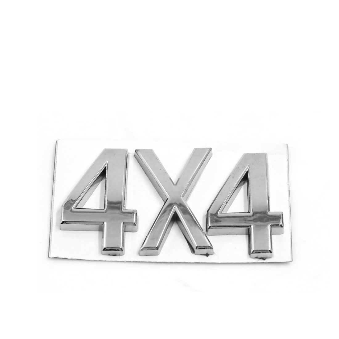 Silver Tone Plastic 4X4 Design Grille Emblem Badge Decoration for Car Auto