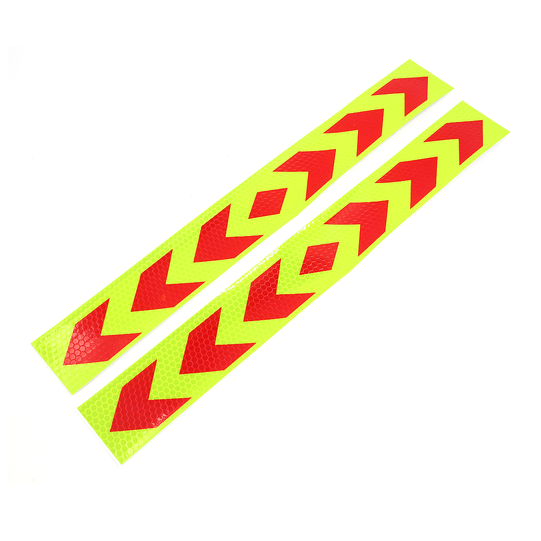 2Pcs Yellow Car Auto Truck Safety Warning Night Driving Reflective Sticker