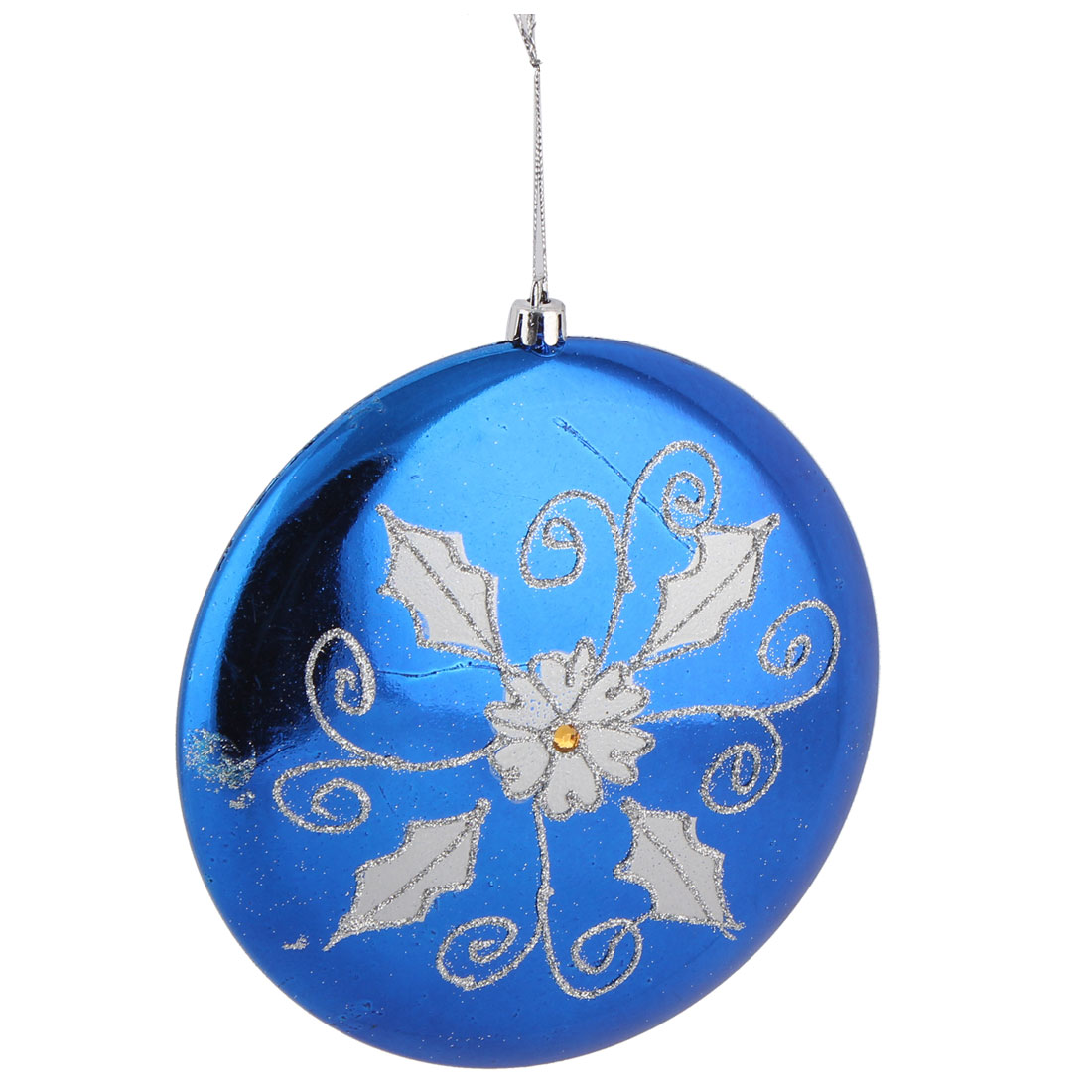 Festival Christmas Tree Plastic Flower Pattern Decorative Handcrafts Flat Ball