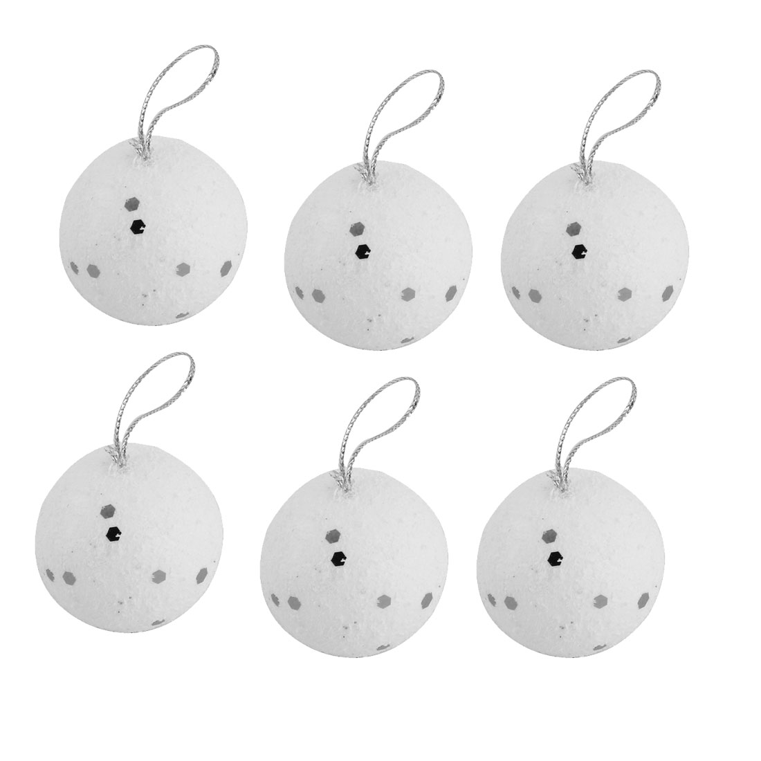 Holiday Christmas Foam Artificial Collectible Decoration Hanging Ball 6 PCS