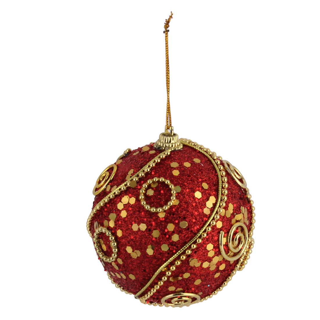 Household Christmas Tree Artificial Collectible Ornament Hanging Baubles Ball