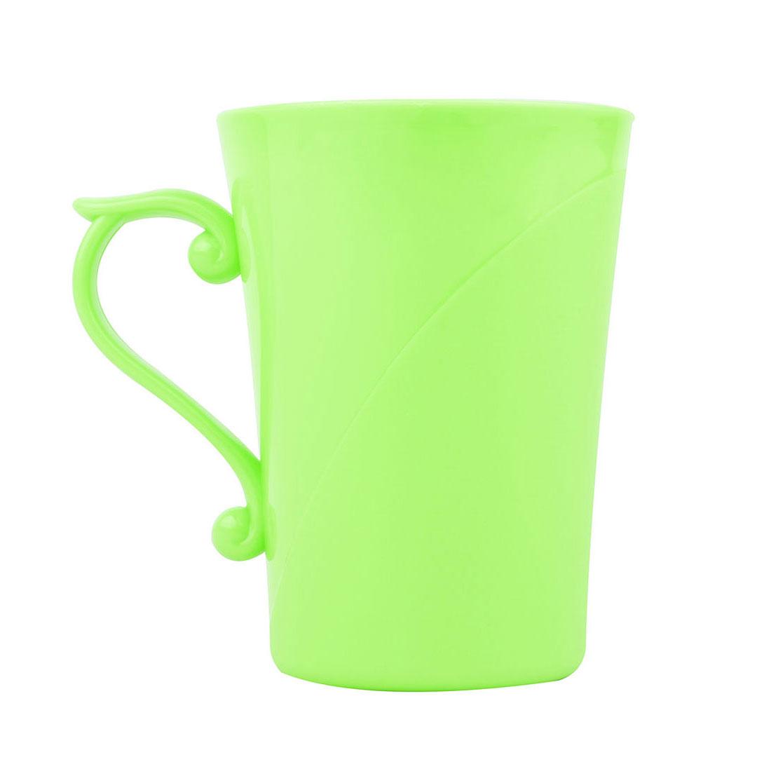 Household Bathroom Plastic Water Bottle Brushing Gargle Toothbrush Cup Holder Light Green