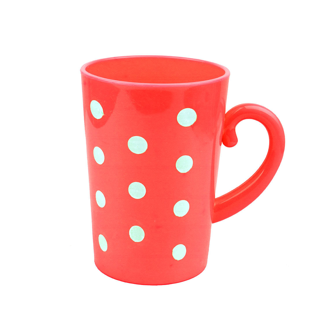 Household Bathroom Plastic Polka Dot Pattern Toothbrush Cup Washing Tool Red