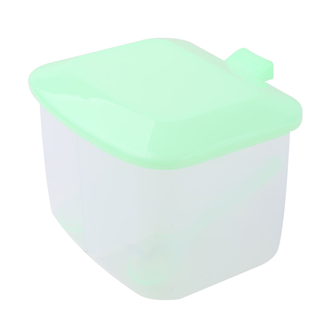 Household Plastic Double Compartment Salt Pepper Seasoning Box Green