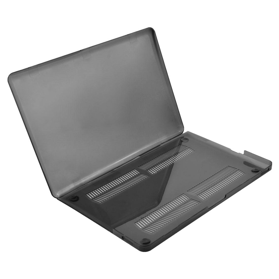 Plastic Non-Slip Protector Cover Hard Case Shell Black for Macbook Pro 15 Inch
