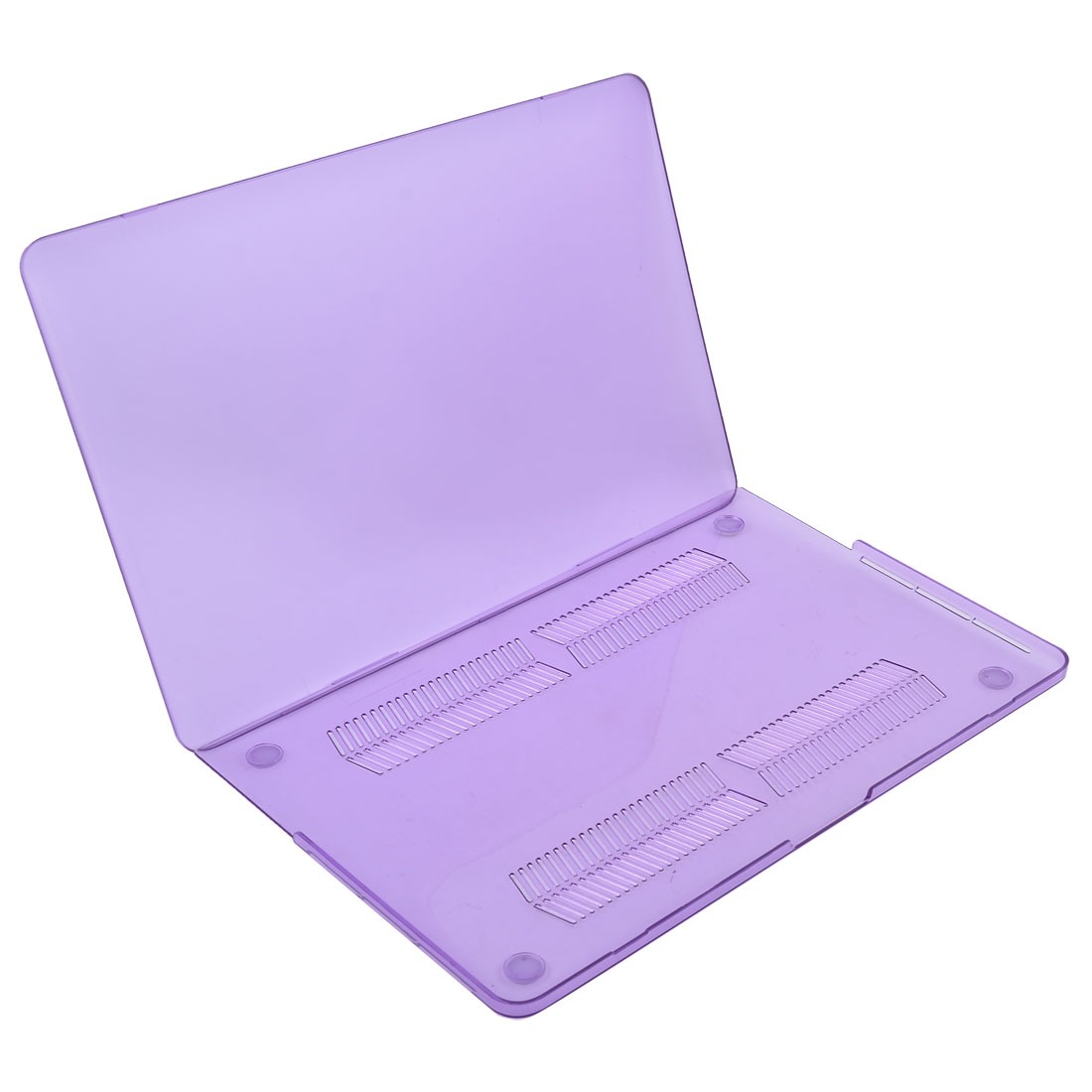 Plastic Matte Frosted Loptop Hard Case Bag Purple for Macbook Pro Retina 15 Inch