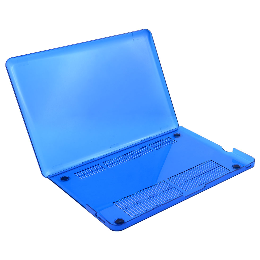Plastic Screen Protector Cover Case Crystal Blue for Macbook Pro 13.3 Inch