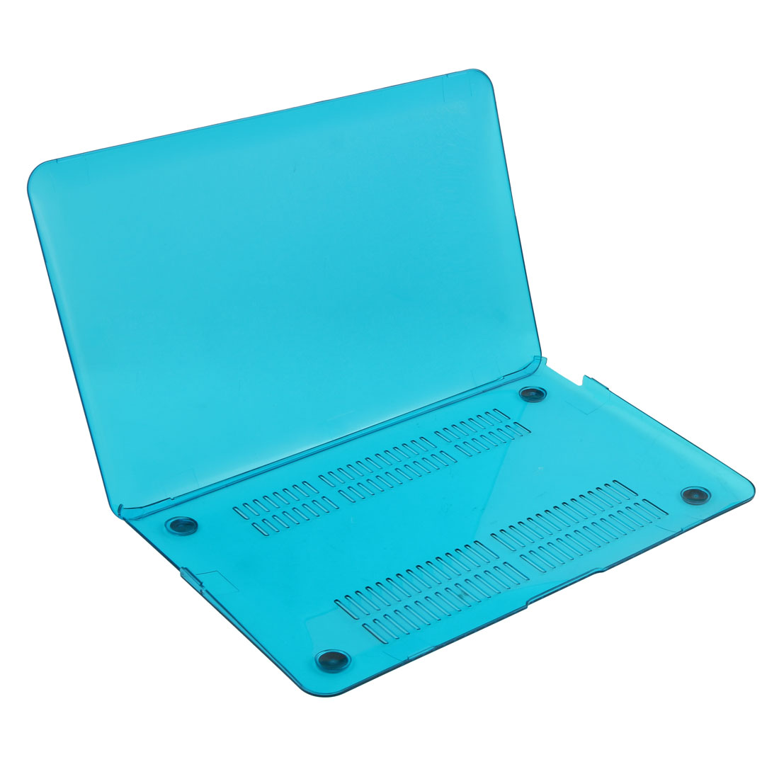 Home Laptop Plastic Anti-dust Shell Hard Case Teal Blue for Macbook Air 11 Inch