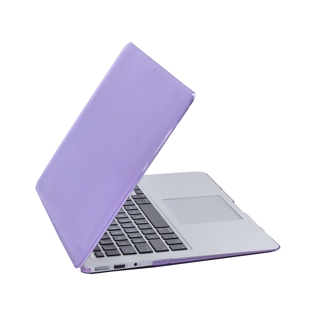 "Apple MacBook Air 13"" Plastic Glossy Crystal Hard Protective Case Cover Purple"
