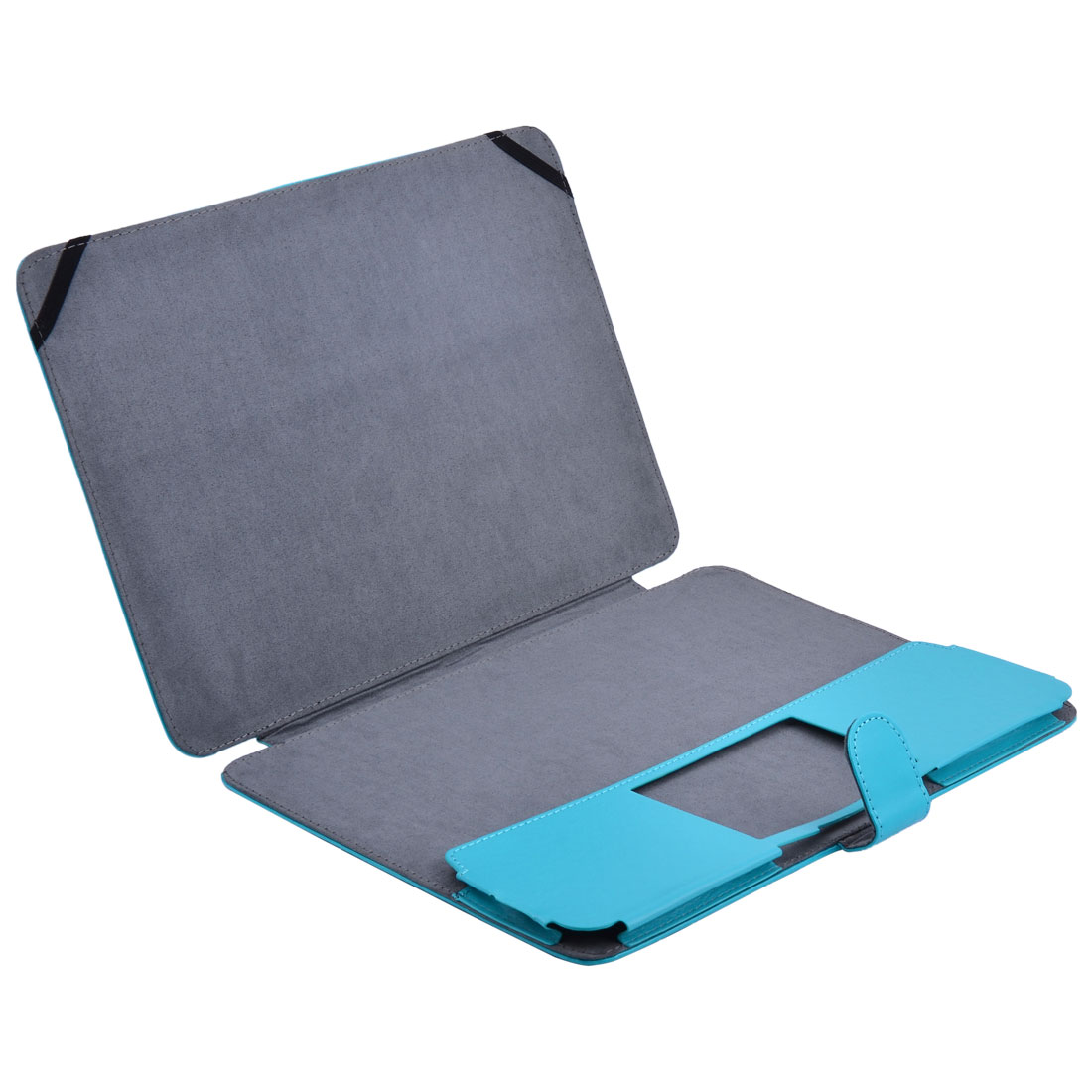 Laptop PU Leather Screen Skin Folio Sleeve Case Cover Blue for MacBook Pro 13.3 Inch