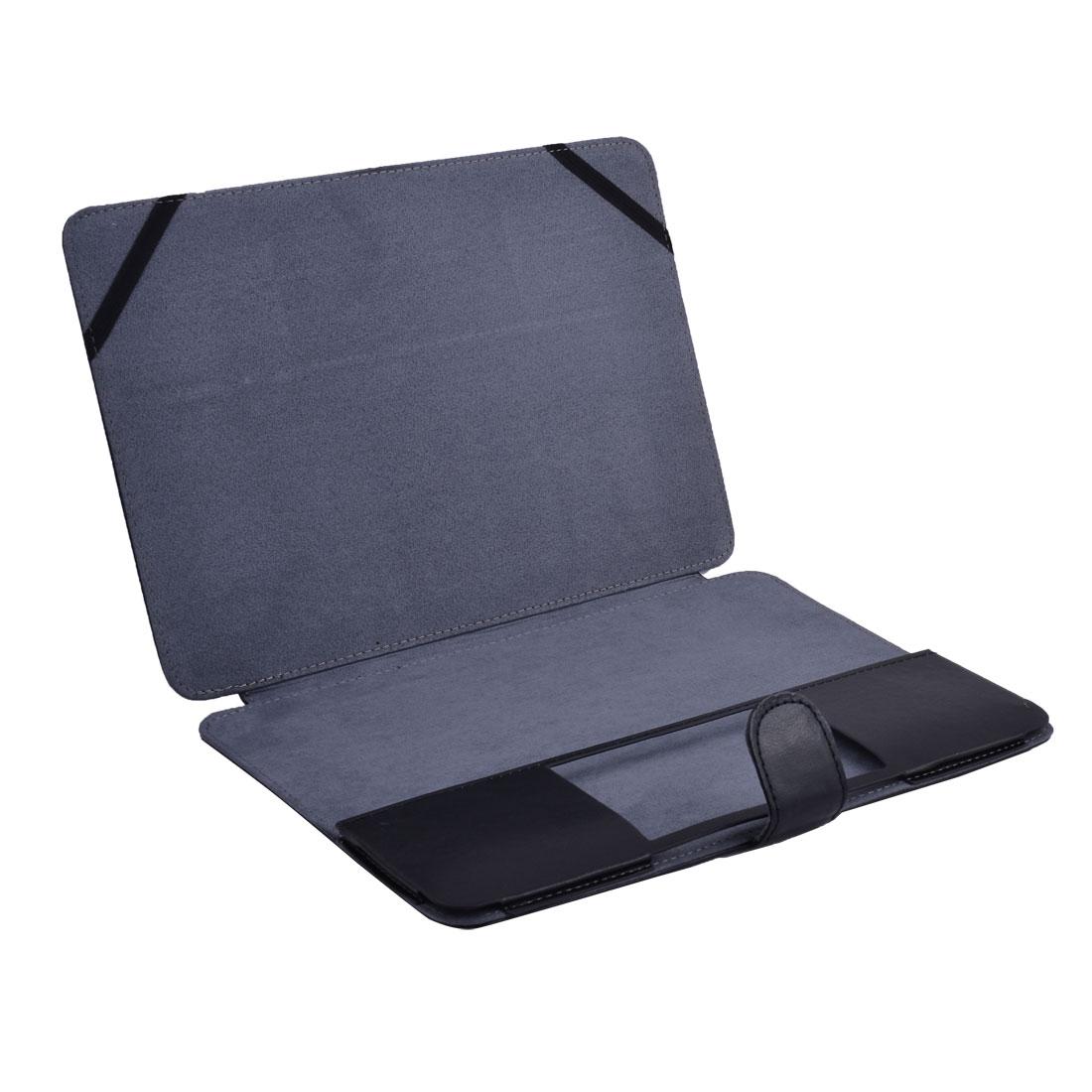 PC PU Leather Clip On Case Bag Book Cover Black for Macbook Retina 12 Inch