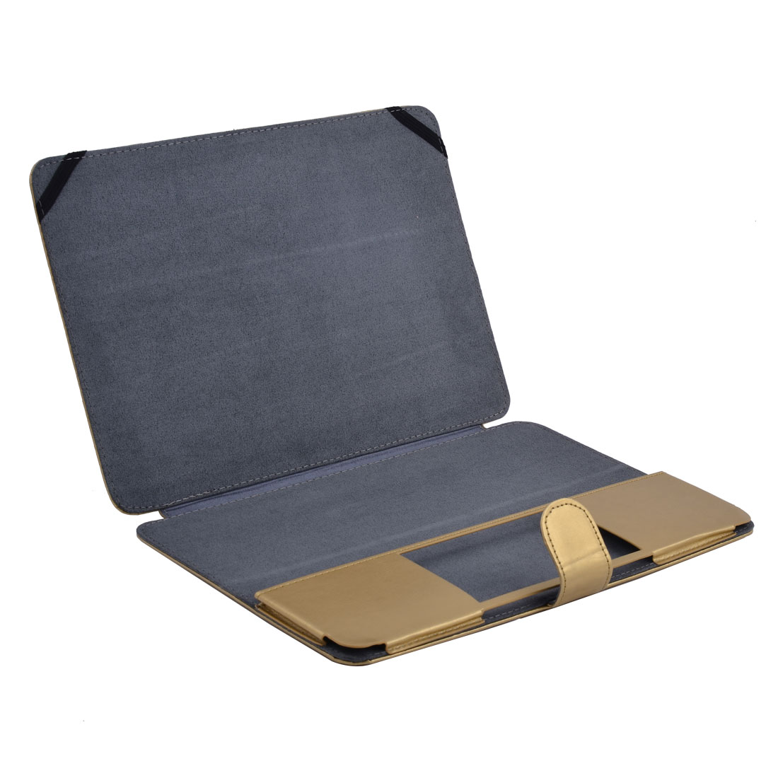 PU Leather Laptop Sleeve Clip On Folio Case Gold Tone for Macbook Retina 12 Inch