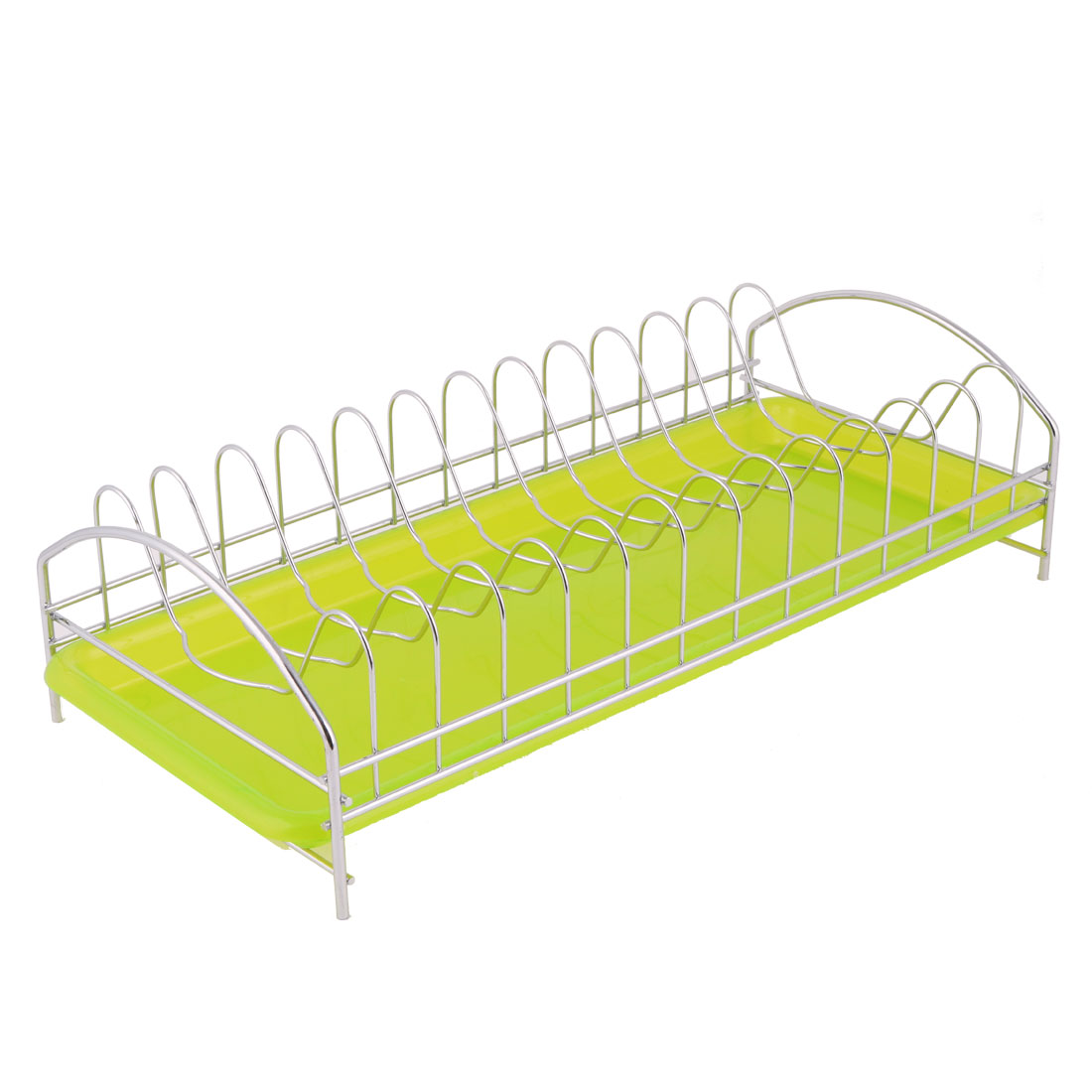 Household Kitchenware Tableware Fruit Vegetable Dish Plate Drainer Drying Rack Green