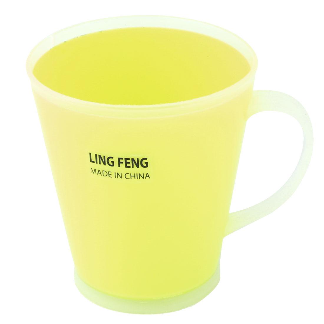Home Bathroom Plastic Water Storage Brushing Gargle Toothbrush Cup Holder Yellow