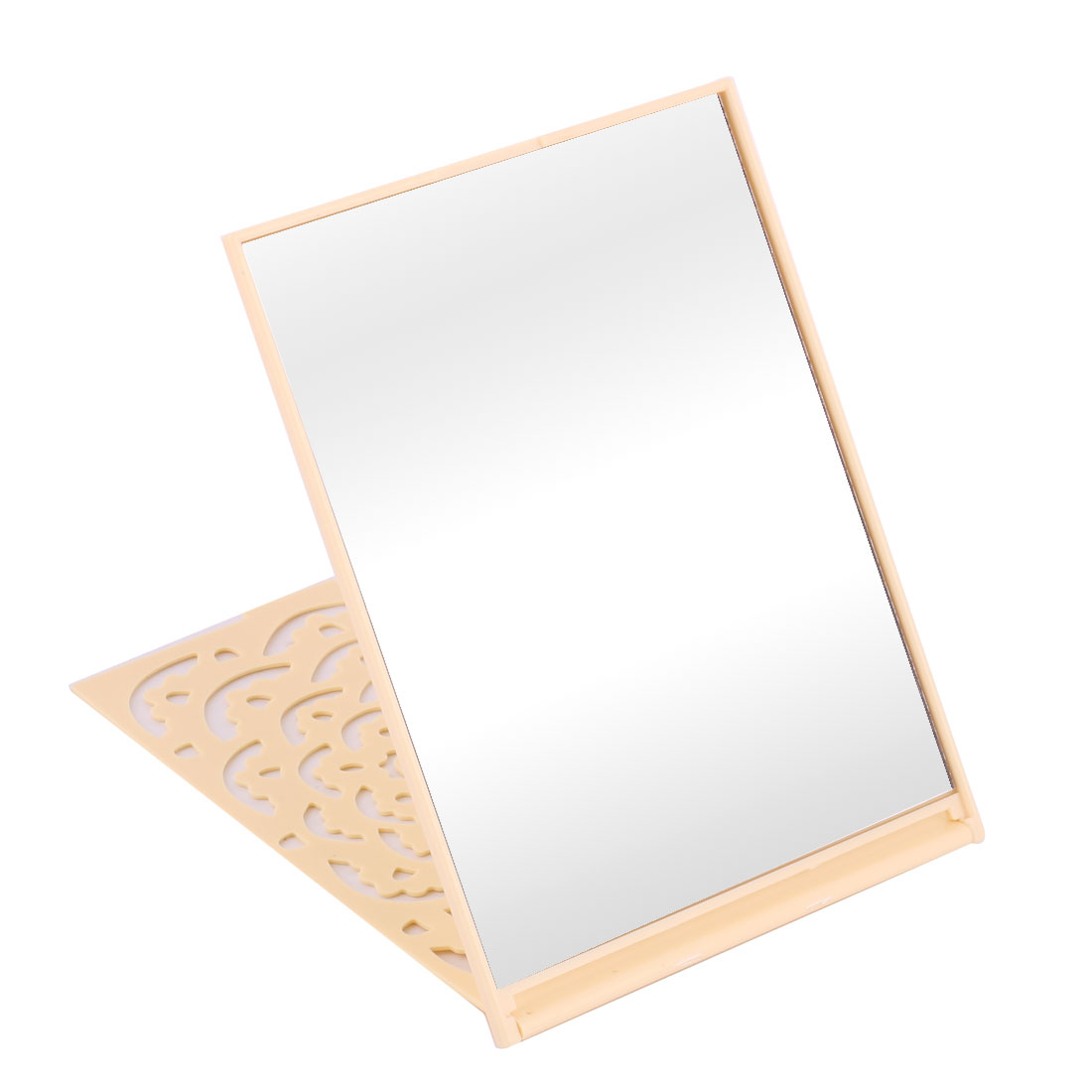 Household Outdoor Plastic Flower Pattern Rectangle Shaped Folding Makeup Mirror