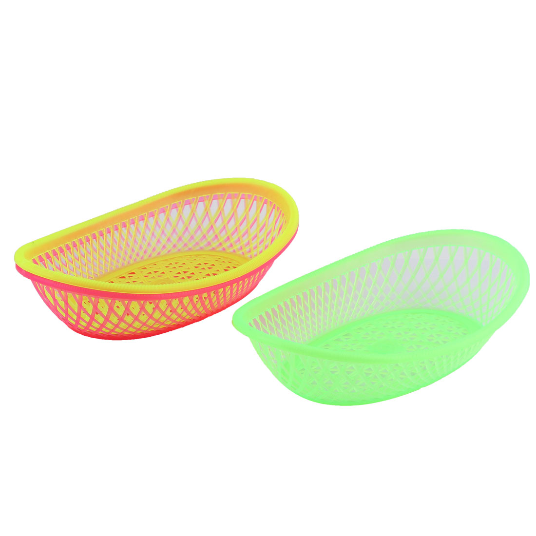 Kitchenware Plastic Oval Fruit Vegetable Washing Basket Strainer Holder 3 Pcs