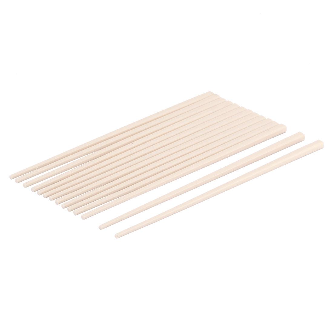 Plastic Home Restaurant Kitchenware Tableware Chopsticks Beige 7 Pairs