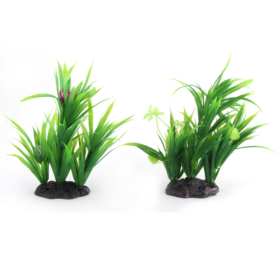 Household Aquarium Fish Tank Artificial Aquatic Scenery Waterweeds Plants 2 PCS