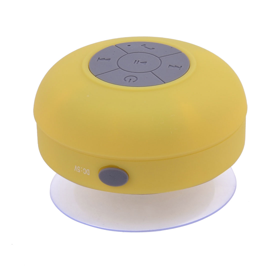 Smartphone Portable Mini Wireless bluetooth Sucker Hand-free Call Stereo Speaker Yellow