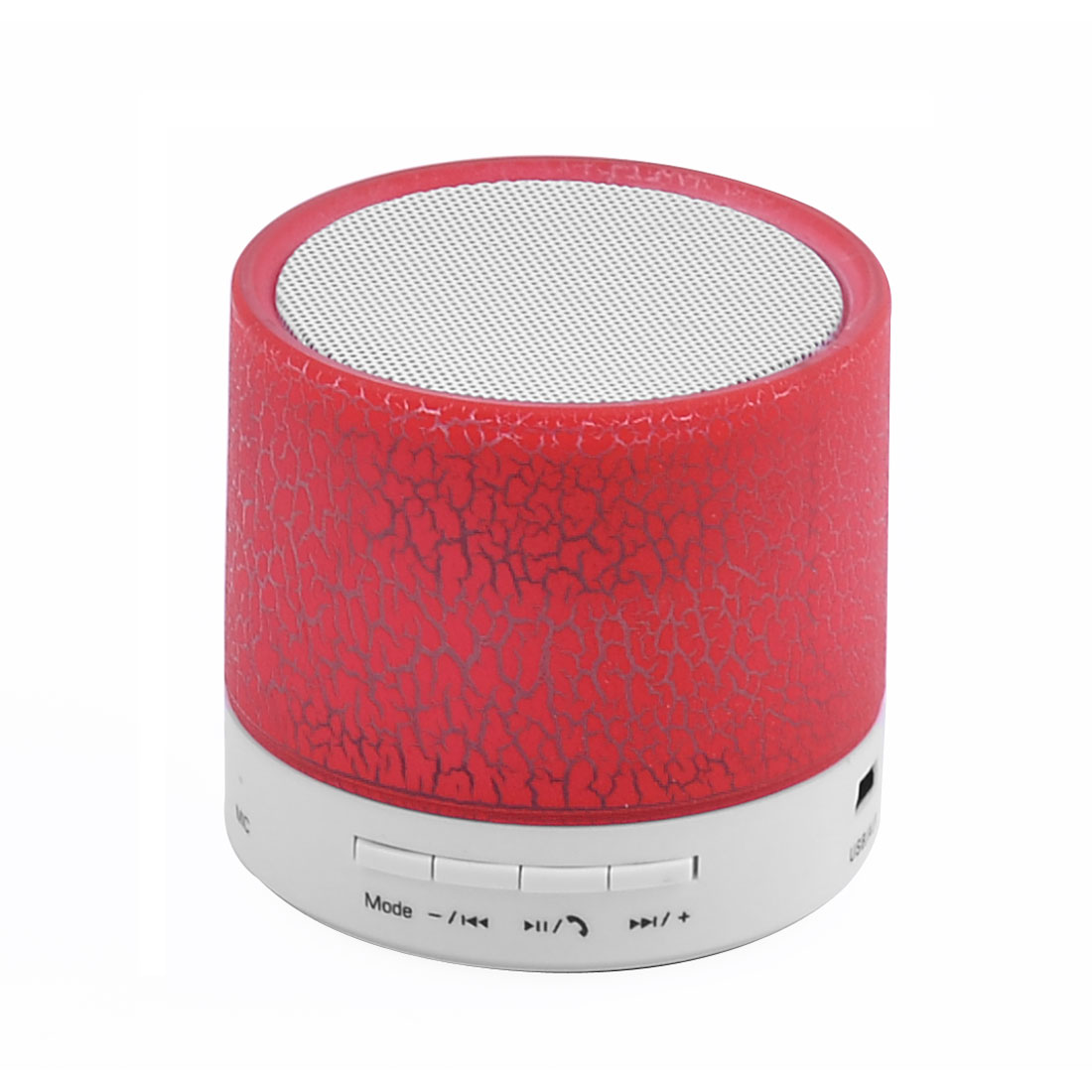 Smartphone Laptop Portable Outdoor LED Mini Wireless bluetooth Hand-free Call Stereo Speaker Player Red