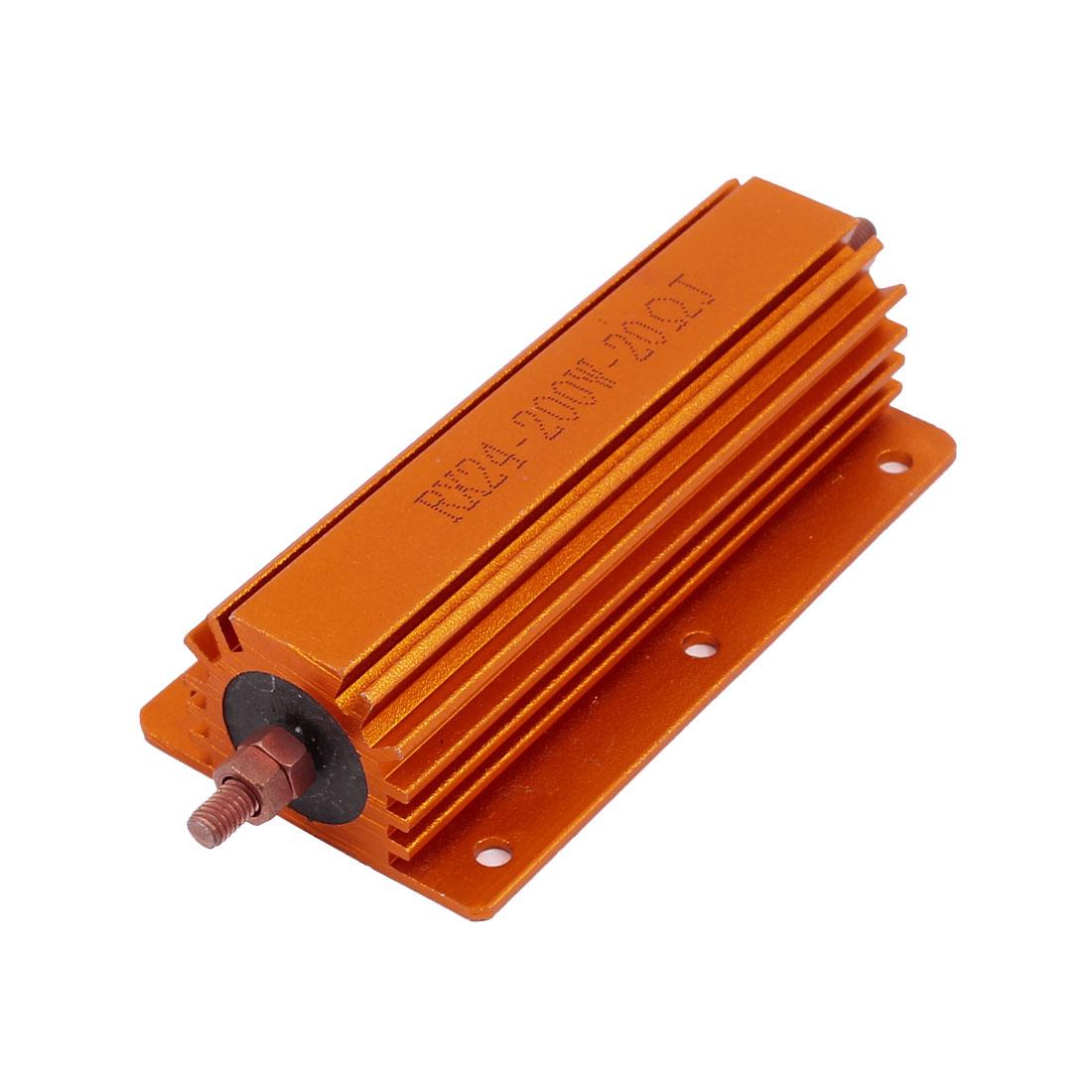 200W 20 Ohm Axial Lead Gold Tone Heatsink RX24 Aluminum Clad Resistor