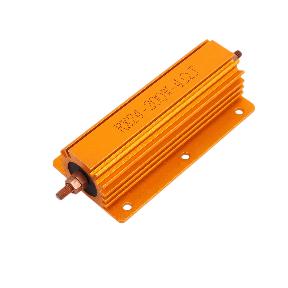 5% 200W 4 Ohm Wirewound Aluminum Housed Clad Resistor Gold Tone