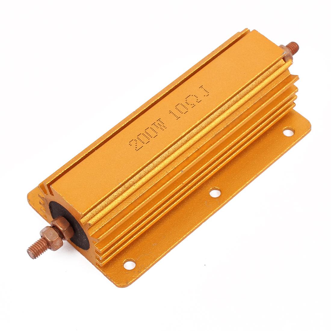5% 200W 10 Ohm Axial Lead Gold Tone Heatsink Aluminum Clad Resistor