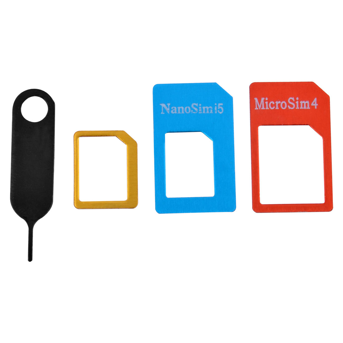 SIM Card Tray Removal Ejector Eject Needle Pin Key Micro Nano Adapter Set 4 in 1