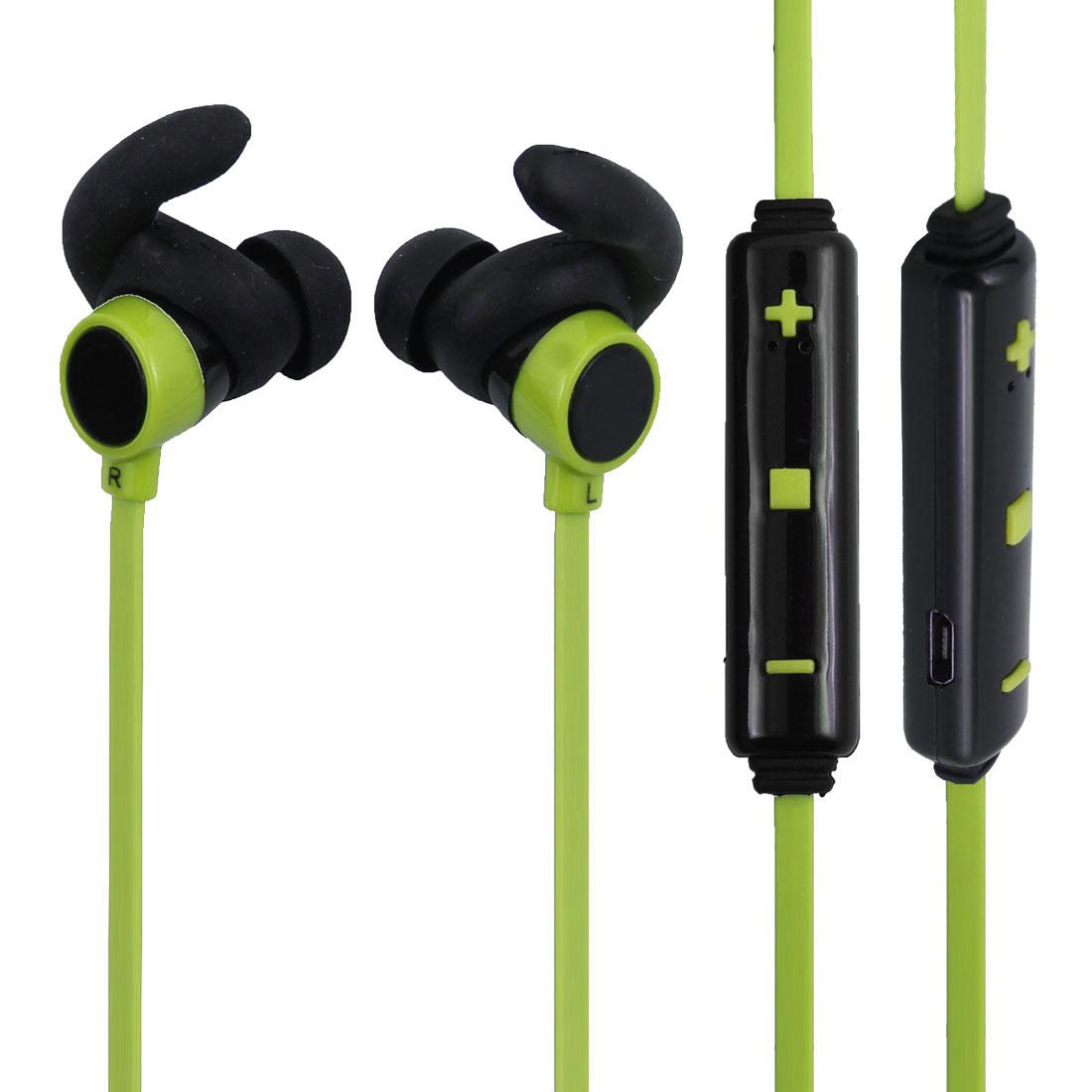bluetooth 4.1 Wireless Headphone In-ear Earbuds Mic Yellow Green for Sport