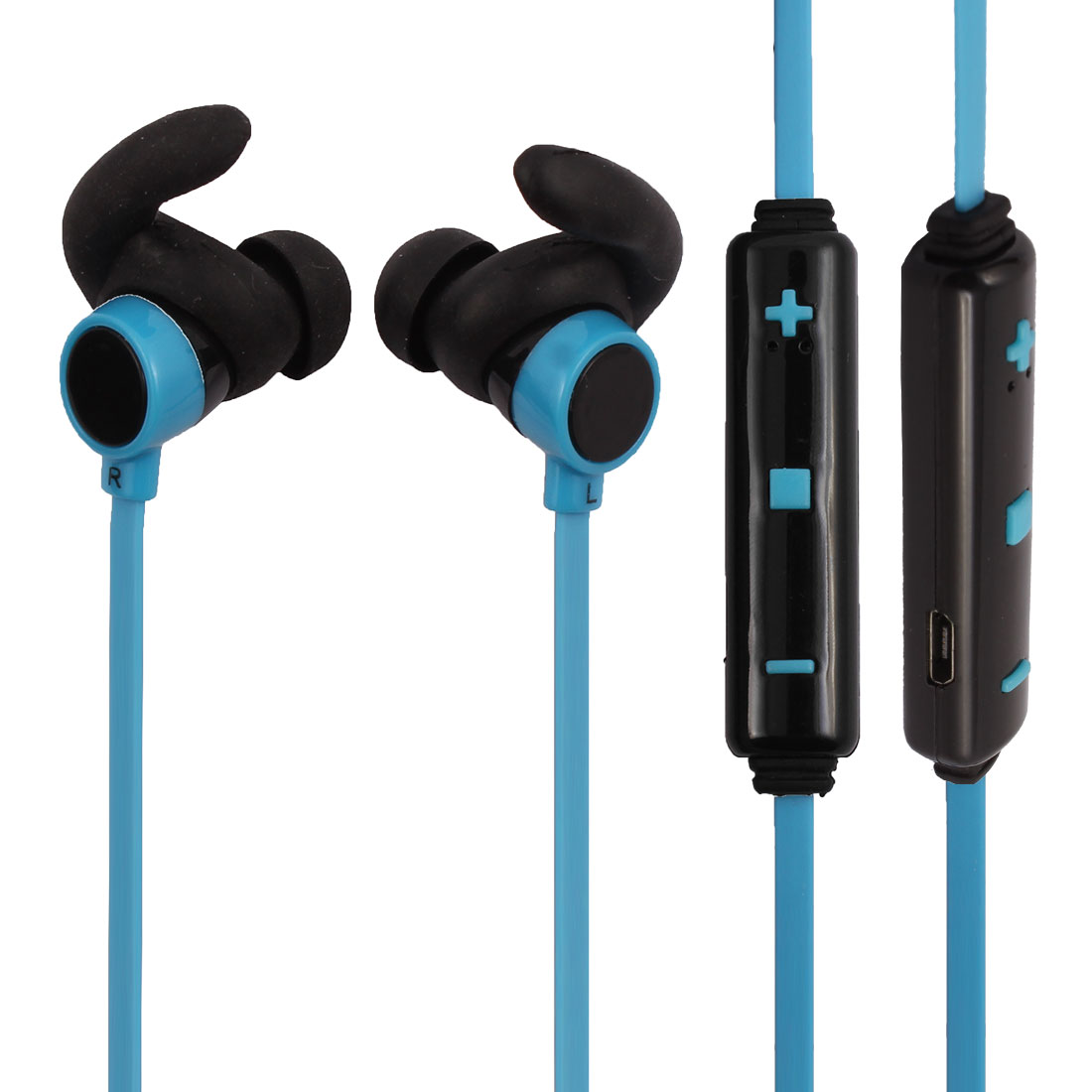 bluetooth V4.1 Wireless Headphone In-ear Earbuds Headset Mic Blue for Sport
