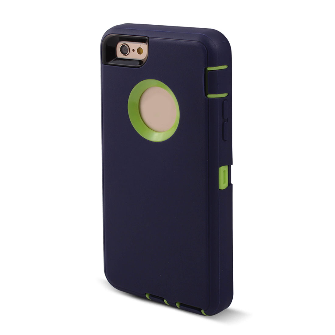 TPU Scratch Protective Rotary Belt Clip Phone Case Navy Blue for iPhone 6 Plus