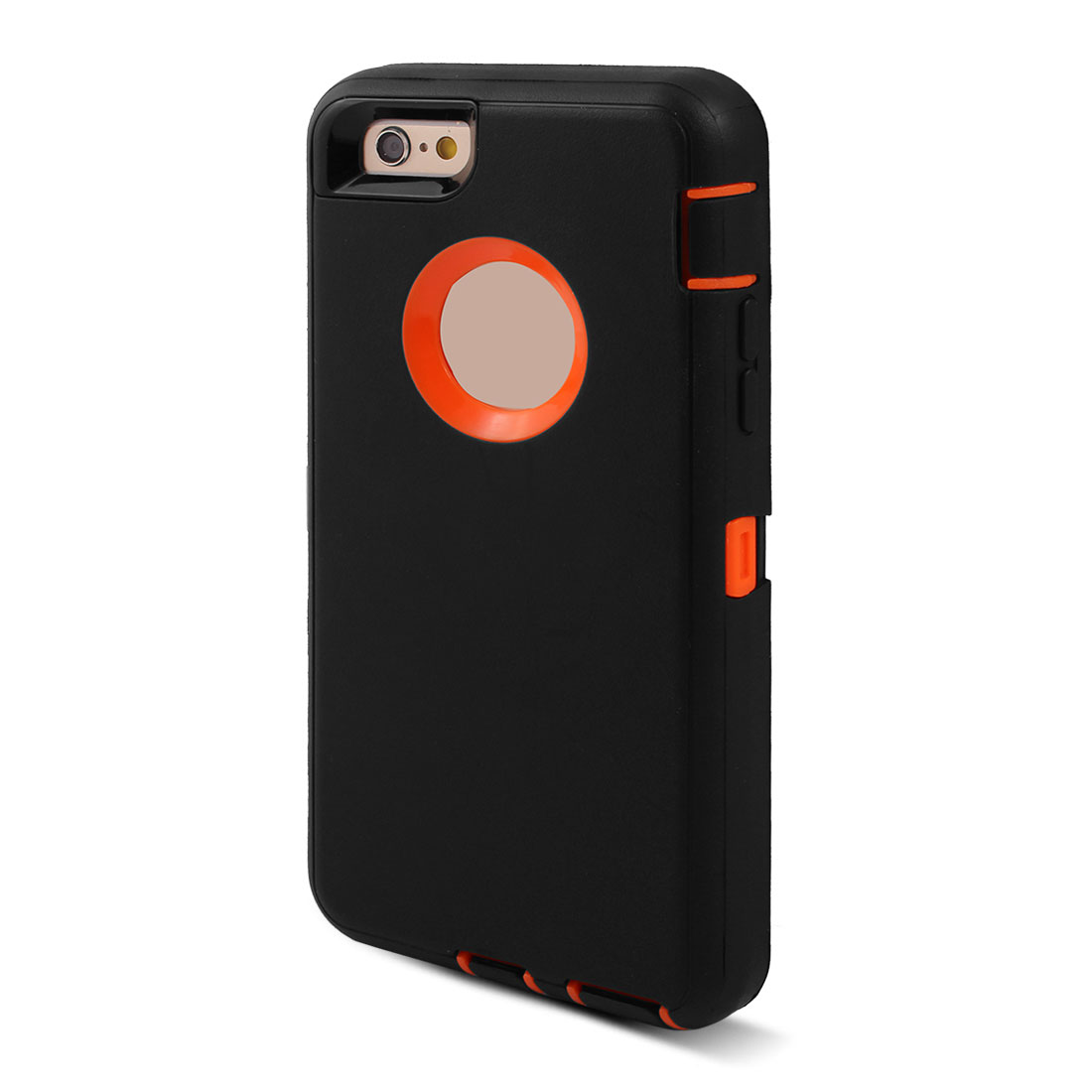 TPU Rotary Belt Clip Tough Full Body Protective Phone Case Black for iPhone 6