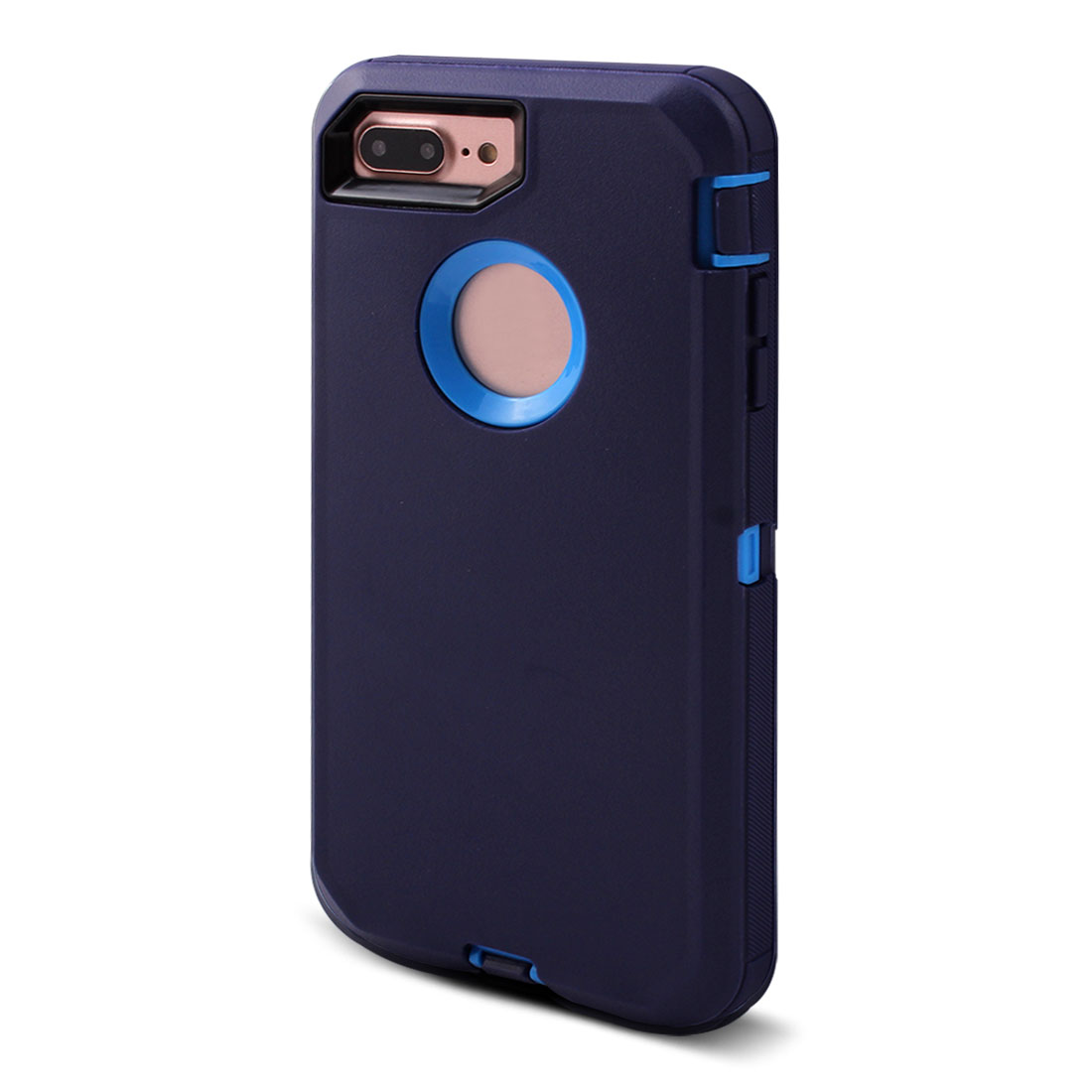 TPU 360 Degree Rotary Belt Clip Anti-Dust Shell Phone Case Navy Blue for iPhone 7 Plus