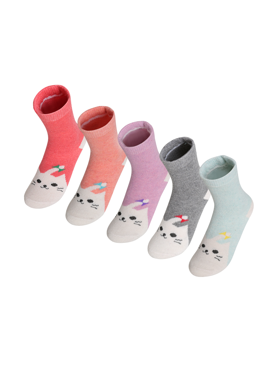 Women 5 Pack Animal Pattern Thermal Crew Socks 7-9 Assorted-5
