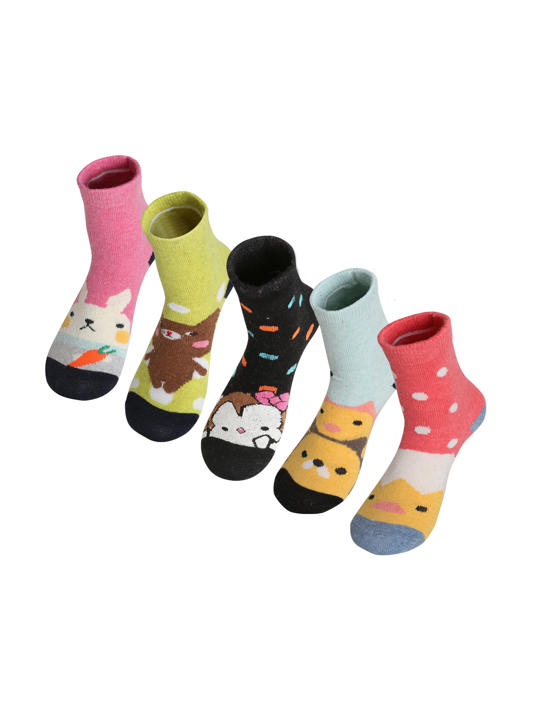 Women 5 Pack Animal Pattern Thermal Crew Socks 7-9 Assorted-2