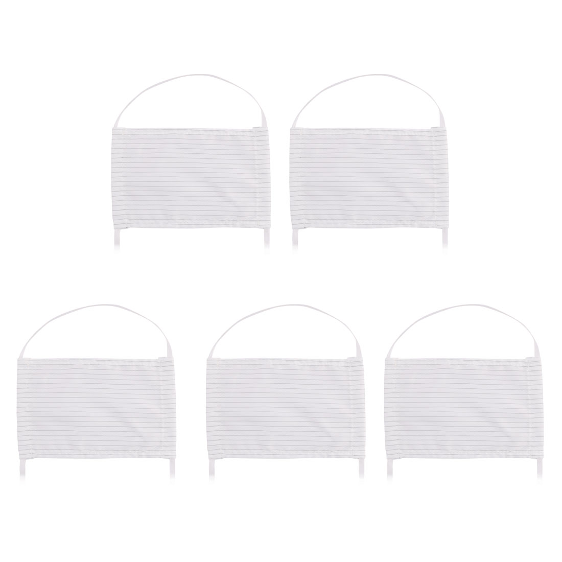 5Pcs Anti-static Anti Dust Activated Carbon Respirator Face Mask White