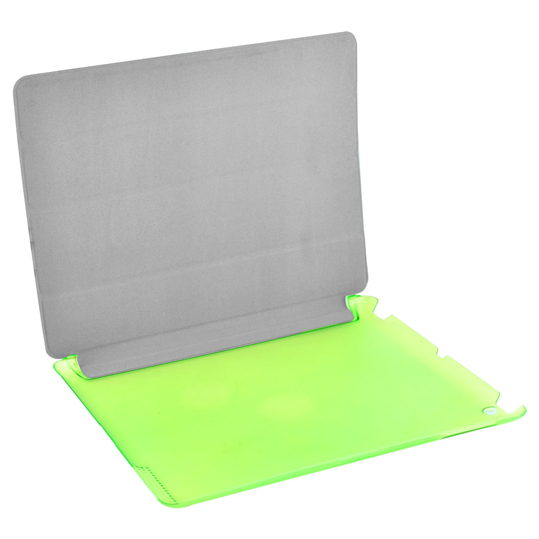 Green PU Leather Frosted Back Foldable Protect Shell Cover Case for iPad 2/3/4