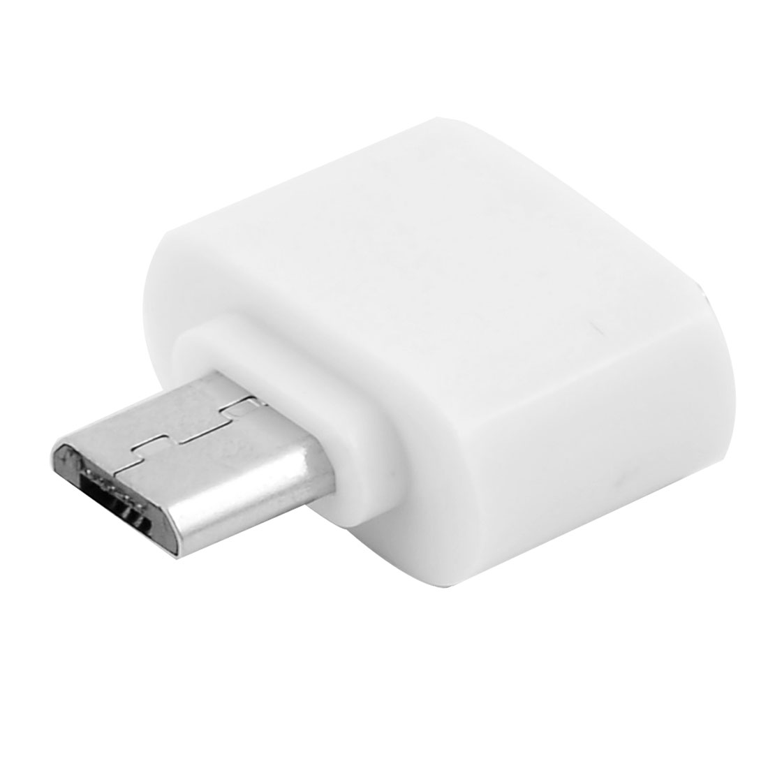 Micro USB to USB 2.0 Mini OTG 5 Pin Converter White for Android Adapter