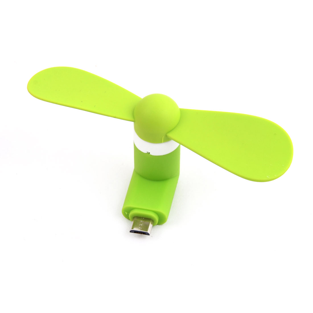 USB Mute 5Pin Portable Summer Cooler USB-Powered Mini Micro Phone Fan Light Green