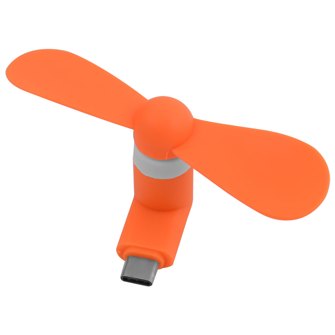 USB Mute 5Pin Portable Two Leaves Cooler USB-Powered Mini Micro Phone Fan Orangered