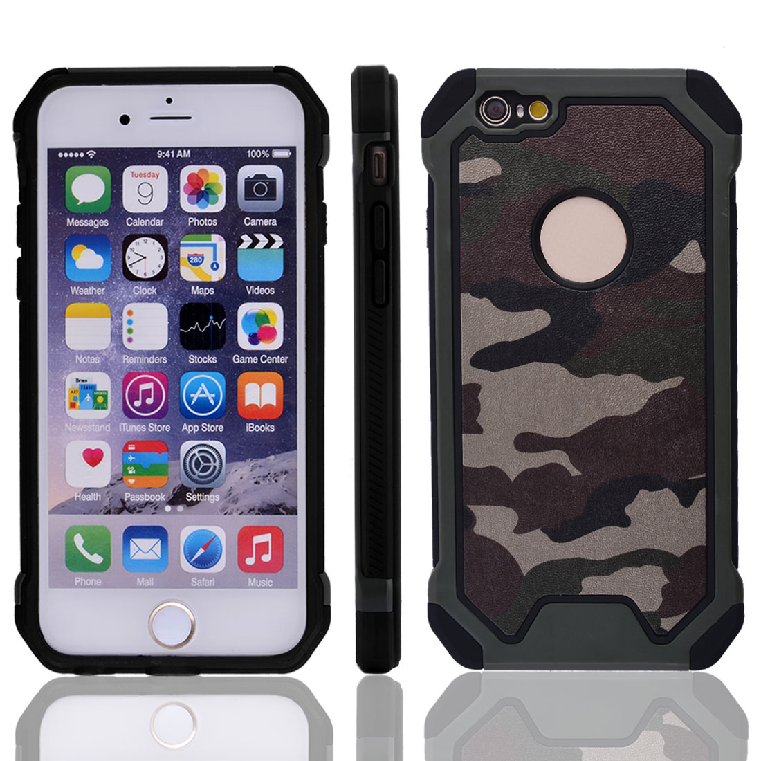 Camouflage Shockproof Protective Phone Cover Case Army Green for IPhone 6