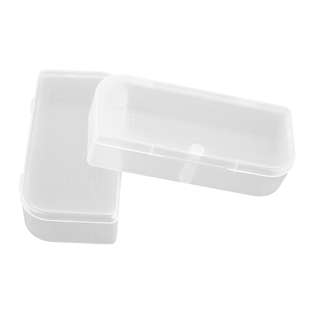 Plastic Earphone Storage Case Box Holder Container Clear 2 PCS